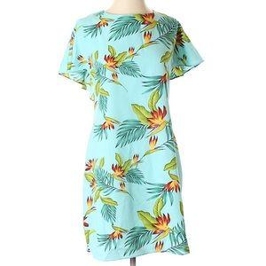 Tropical floral print dress NWOT